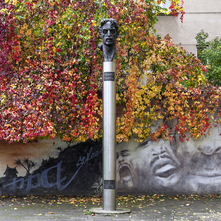 frank: Monument dedicated to Frank Zappa in Vilnius, Lithuania