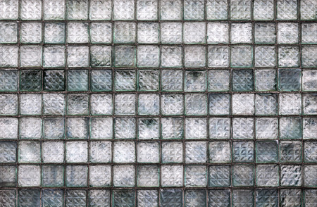 glass brick: Old weathered glass block wall background