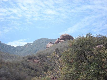 malibu: mountain in malibu Stock Photo