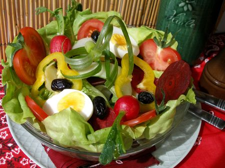provencal: Yummy provencal salade perfect for summertime with a wide selection of raw  and fresh vegetables