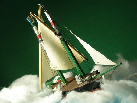 Model boat in the storm photo