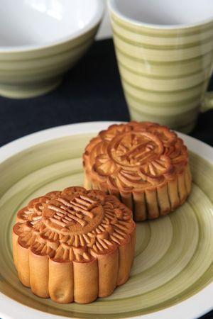 graine lotus: Lotus m�lange de noix et de graines remplies mooncakes chinois pour le Chinese Lantern Festival