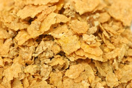 Close up picture of unflavored generic yellow cornflakes photo