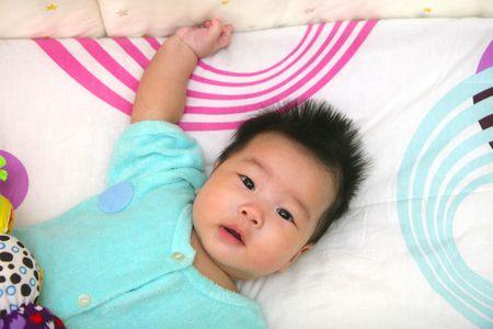 Cute oriental baby photo