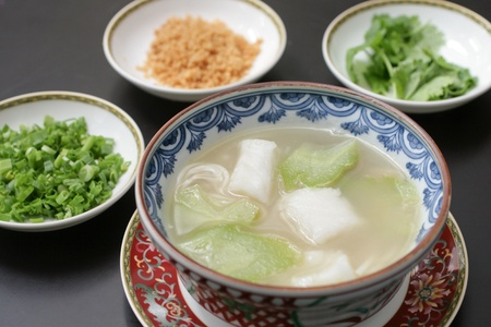 Fish and gourd soup photo