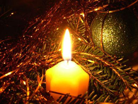 Boże Narodzenie w dekoracje świec Zdjęcie Seryjne