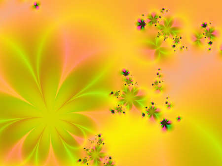 Fractal image of colorful flowers Stock Photo - 957962