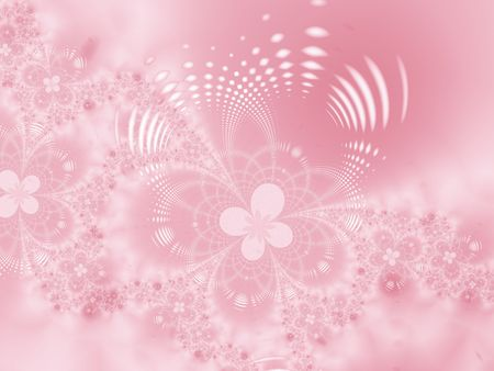 fractal pink: Floral background