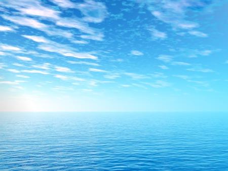 clouds scape: Sunrise over the sea Stock Photo