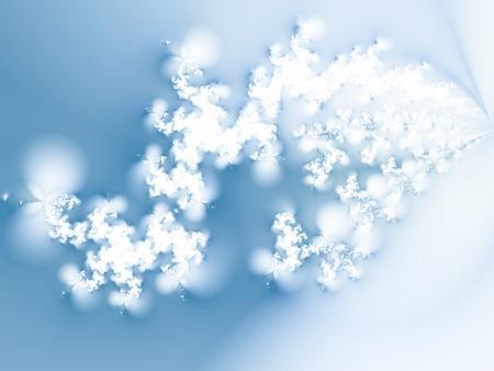 pane: Swirl of snowflakes