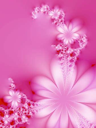Hermosa rosa flores de color rosa en el fondo Foto de archivo - 1524958