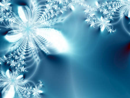 wintry: Abstract ice-flowers Stock Photo