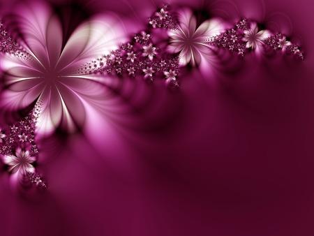 Piękne kwiaty na czarnym tle
