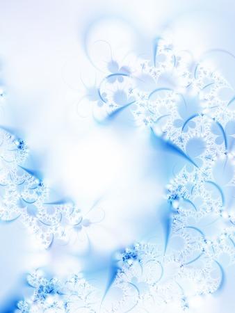 dreamlike: Dreamlike ice-flowers on a windowpane