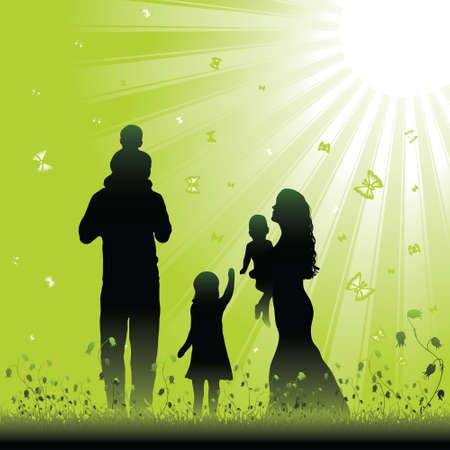 Przyjazny dla rodzin Ilustracja