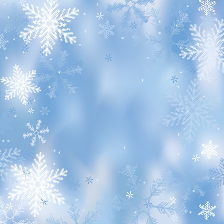 Winter background with snowflakes Illustration