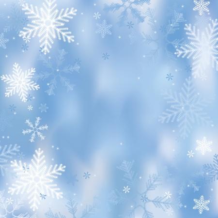Zima w tle z płatków śniegu Ilustracja