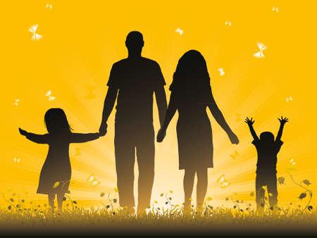 mujer feliz fondo blanco: Familia Vectores