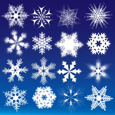 Ozdobne płatki śniegu.