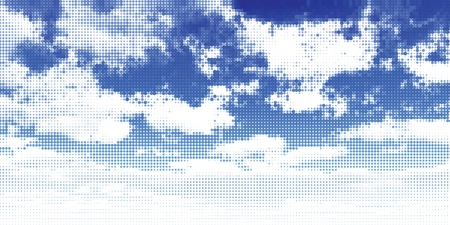 puffy: Clouds and sky. Vector illustration