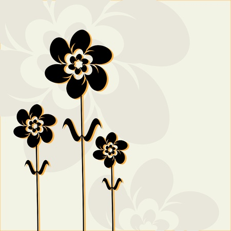 Abstract flowers. Illustration