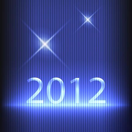 New year 2012. Vector
