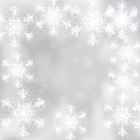 Zimowe tłem a płatki śniegu Ilustracja