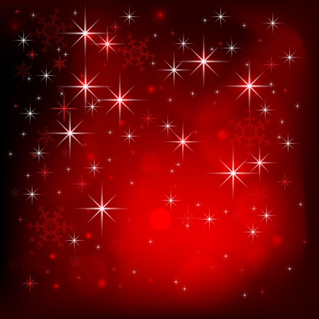 Christmas night. Vector illustration