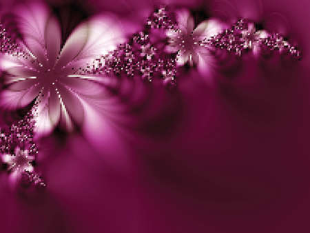 Zjawiskowe kwiaty. Ilustracji wektorowych