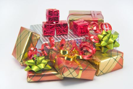 A bright pile of presents