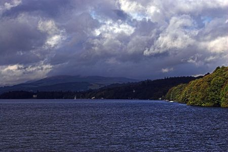 gathers: A storm gathers over Lake Windemere