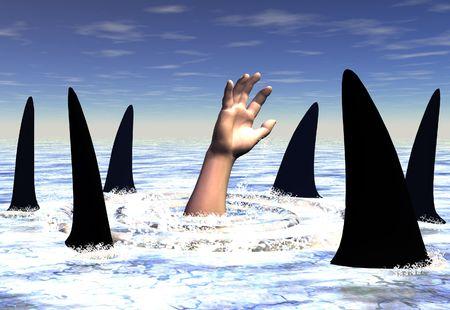 ahogarse: Nadando con tiburones