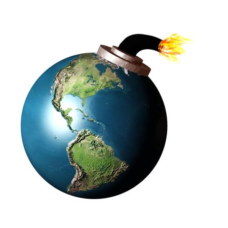 The earth as a bomb about to explode Stock Photo - 369335