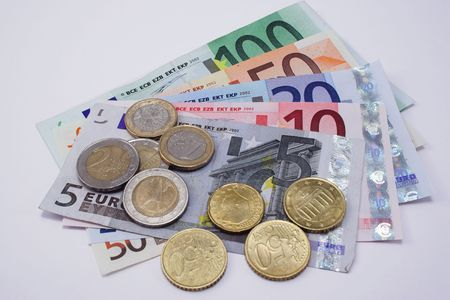 Euros, notes and coins