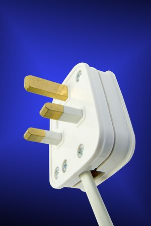 An electrical plug ready to connect Stock Photo