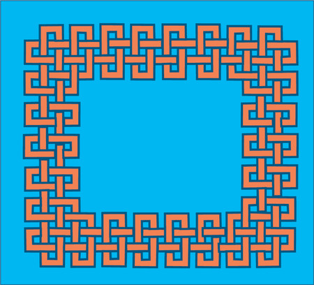 Celtic knot frame,easily scalable Vector