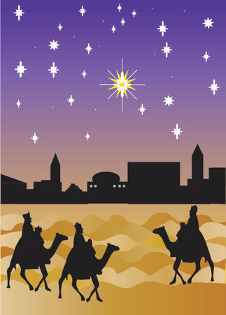 wise men: The three wise men arriving from the East