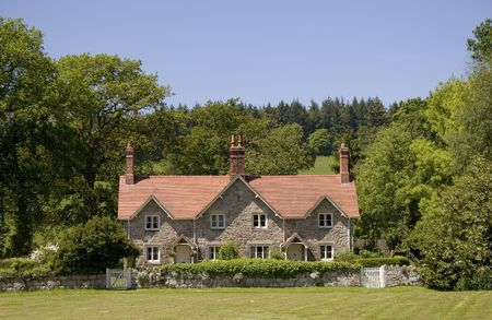 A beautiful new cottage in the country.