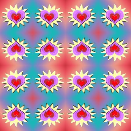A rich curving pattern of hearts that tessellates seamlessly. Makes a beautiful background that is ideal for scrapbooking and Valentines day Stock Photo - 693110