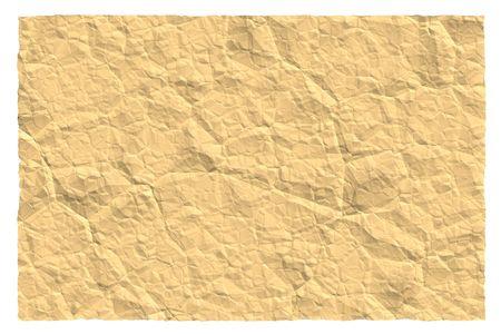 tatter: Una hoja de papel arrugado marr�n.