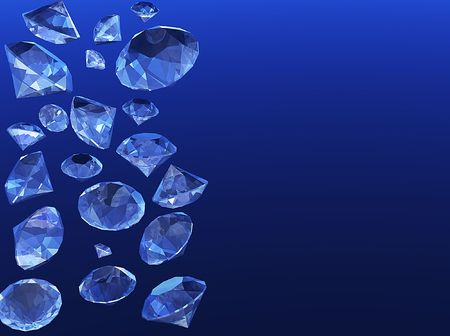 A shower of brilliant diamonds photo