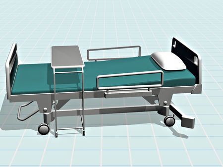 An empty hospital bed waiting for the next patient.