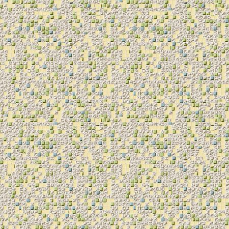 tessellate: A seamless tiling texture. Illustration of a damaged mosaic Stock Photo