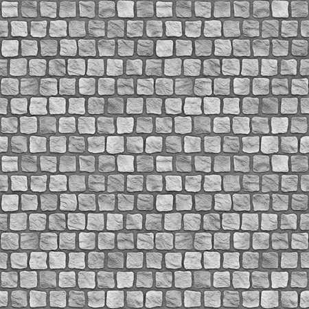 A seamless tiling texture. Illustration of cobblestones illustration