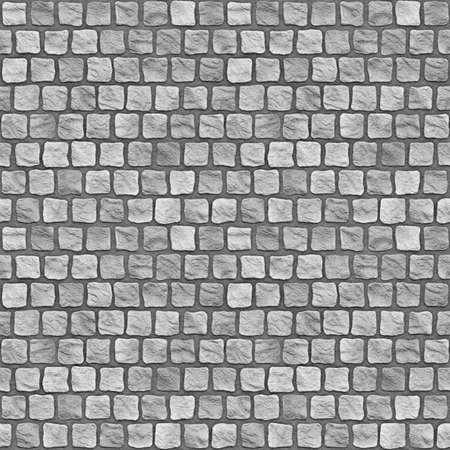 tiling: A seamless tiling texture. Illustration of cobblestones Stock Photo