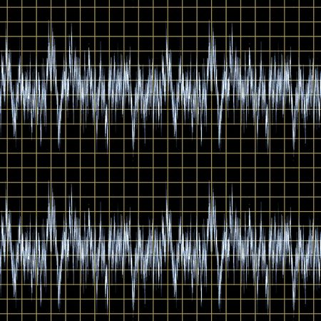 tessellate: Illustration of sound waves. A seamlessly tiling texture. Stock Photo
