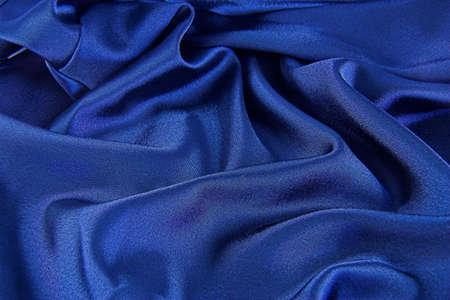 sensuous: A background of blue satin Stock Photo