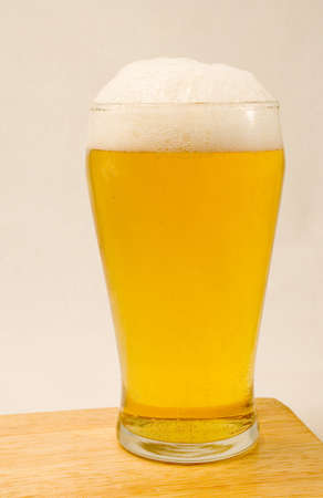 A Pint of lager Stock Photo