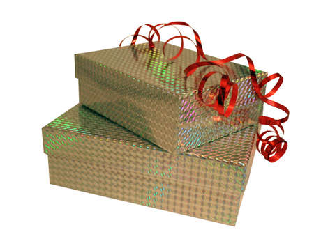 goodie: Brightly wrapped presents Stock Photo