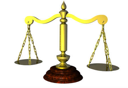 Scales of justice, or just for weighing?